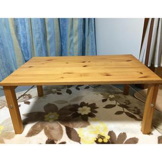 ムジルシリョウヒン(MUJI (無印良品))の無印良品 折りたたみ式 ローテーブル(ローテーブル)