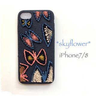 ミナペルホネン(mina perhonen)のskyflower*iPhone7/8*(スマホケース)