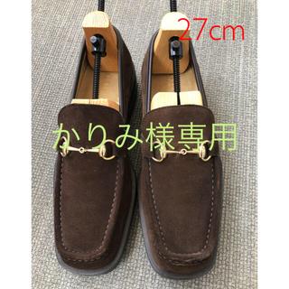 グッチ(Gucci)のグッチ GUCCI メンズ ビットローファー 靴 27cm スェード ブラウン(ドレス/ビジネス)