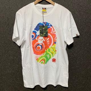 アベイシングエイプ(A BATHING APE)のA BATHING APE Tシャツ ホワイト XLサイズ(Tシャツ/カットソー(半袖/袖なし))