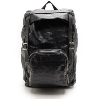 サンローラン(Saint Laurent)のサンローランレザー皮革ハンティングロックバックパックリュックサックバッグ鞄クロコ(バッグパック/リュック)