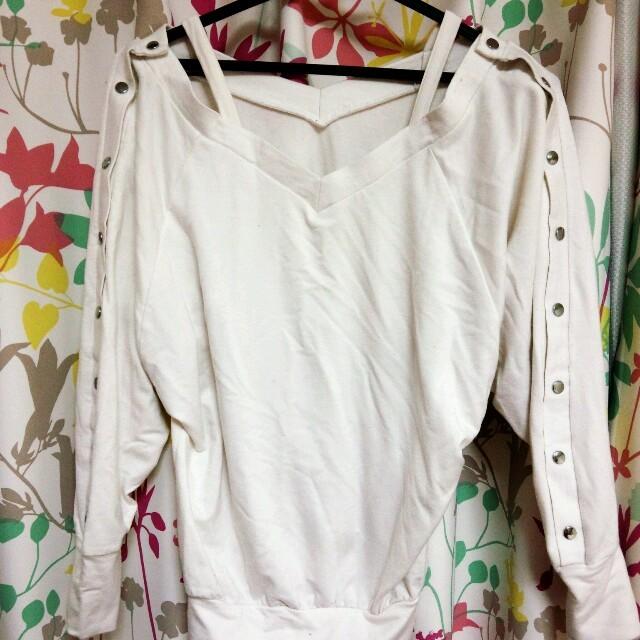 シンプルな白のトップス❀ レディースのトップス(Tシャツ(長袖/七分))の商品写真