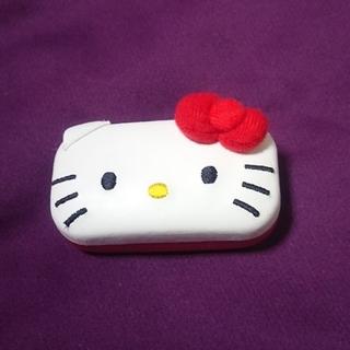 ハローキティ(ハローキティ)のハローキティ HELLO KITTY 鏡付き ピールケース 小物入れ  猫耳(小物入れ)