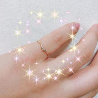 エテ(ete)のete K10 YG ピンキーリング 5号(リング(指輪))