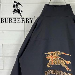 バーバリー(BURBERRY)のカフェオレさん 専用 バーバリー バックロゴ ゆるだぼ 90s スイングトップ (ブルゾン)