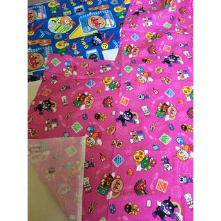 アンパンマン(アンパンマン)のアンパンマンのハギレ二枚組ピンクとブルー(生地/糸)