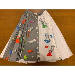 最終値下げ!新品 オリンピアルタン ビーズ刺繍 スカート(ひざ丈スカート)