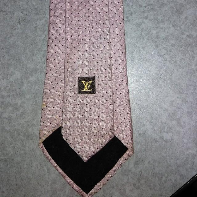 LOUIS VUITTON(ルイヴィトン)の【ルイヴィトン】ネクタイ ピンク メンズのファッション小物(ネクタイ)の商品写真