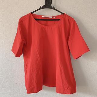 ルメール(LEMAIRE)の【専用】[UNIQLO AND LEMAIRE]ブラウス 赤 M(シャツ/ブラウス(半袖/袖なし))