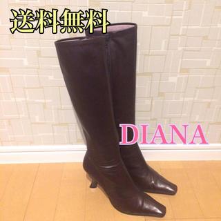 ダイアナ(DIANA)の◎【used品】DIANA ダイアナ ロングブーツ ダークブラウン 22.5(ブーツ)