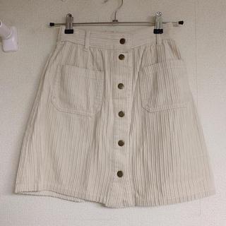 ワンアフターアナザーナイスクラップ(one after another NICE CLAUP)の前ボタン台形スカート(ミニスカート)