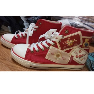 ピンクハウス(PINK HOUSE)のコレクション#ピンクハウス靴#ワッペン可愛い。(スニーカー)