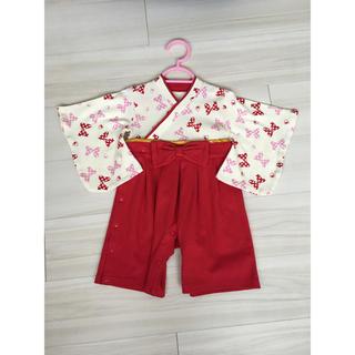 ベルメゾン(ベルメゾン)の美品 ❁Disney❁ 袴 ロンパース+靴下(和服/着物)