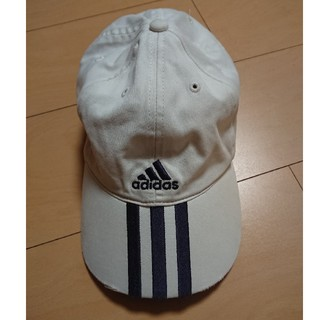 アディダス(adidas)のadidas アディダス キャップ 白(帽子)