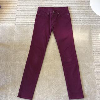 ジーユー(GU)のジーユー スキニーパンツ 紫 パープル 58cm(スキニーパンツ)