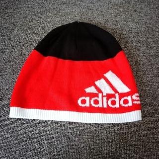 アディダス(adidas)の未使用 アディダス ニット帽 54㎝~57㎝(帽子)