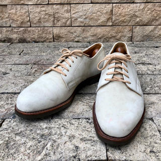 コールハーン(Cole Haan)のコールハーン アメリカ 革靴 ホワイトバックス スウェード 白 USA 27 (ドレス/ビジネス)