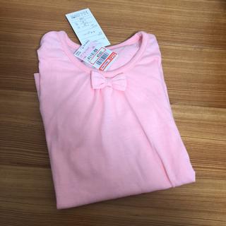 シマムラ(しまむら)のTシャツ 2枚セット サイズ130 ピンク リボン 花柄 かわいい(Tシャツ/カットソー)
