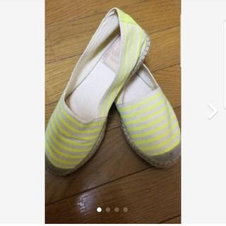 ローズバッド(ROSE BUD)の送料無料ローズバッドROSE BUD 夏フラットシューズ靴 23.5㎝(バレエシューズ)