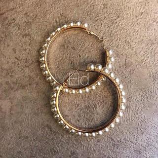 ナノユニバース(nano・universe)のPearl hoop earrings No.48(ピアス)