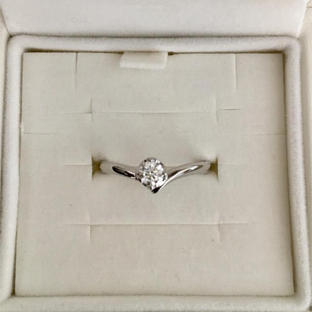 4℃(ヨンドシー)の4℃ 一粒ダイヤモンド リング Pt950 0.162ct 3.2g レディースのアクセサリー(リング(指輪))の商品写真