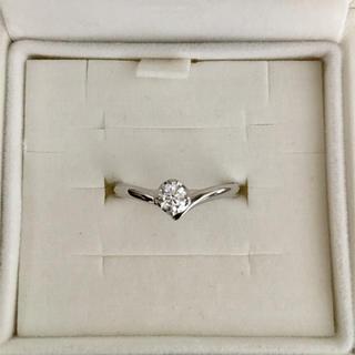 ヨンドシー(4℃)の4℃ 一粒ダイヤモンド リング Pt950 0.162ct 3.2g(リング(指輪))