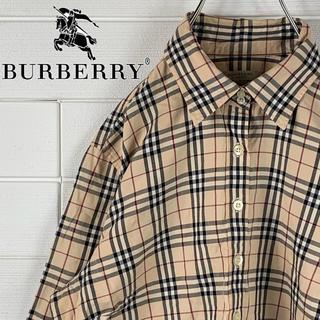 バーバリー(BURBERRY)の送料無料!レア!バーバリー ゆるだぼ 2000年代 ノバチェック シャツ 長袖(シャツ)
