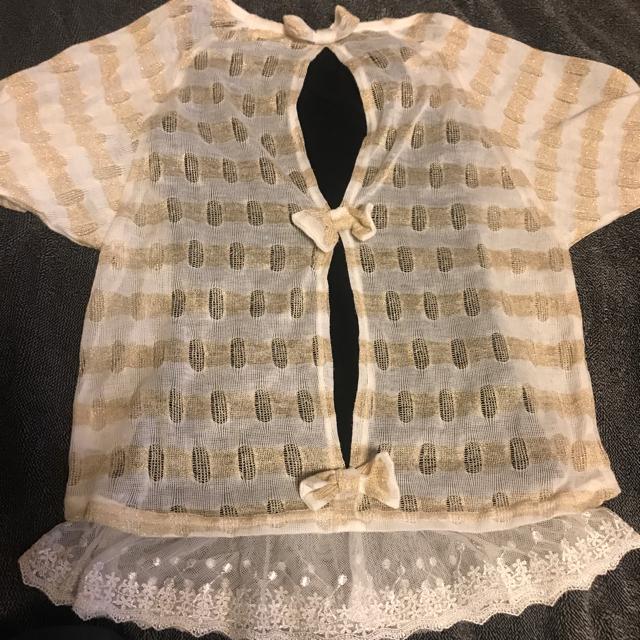 しまむら(シマムラ)の半袖カットソー&タンクトップ キッズ/ベビー/マタニティのキッズ服 女の子用(90cm~)(Tシャツ/カットソー)の商品写真