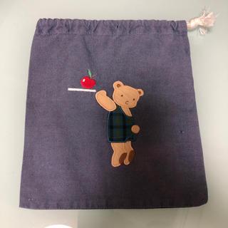 ファミリア(familiar)のファミリア   22 × 19 ㎝  巾着袋(ランチボックス巾着)