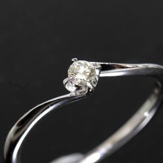 ヨンドシー(4℃)の4℃ ダイヤモンド ホワイトゴールド リング 8号 K18WG 新品仕上済 箱(リング(指輪))