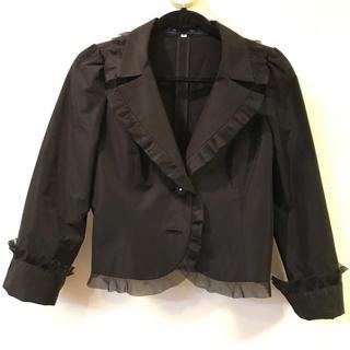 エムズグレイシー(M'S GRACY)のエムズグレイシー  タフタ ジャケット ブラック(テーラードジャケット)