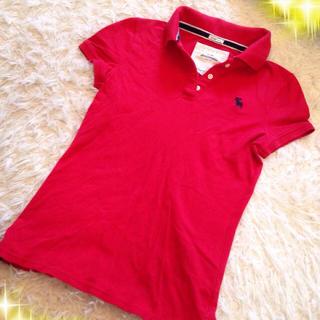 アバクロンビーアンドフィッチ(Abercrombie&Fitch)の♡アバクロ 赤 ポロシャツ♡(Tシャツ(半袖/袖なし))