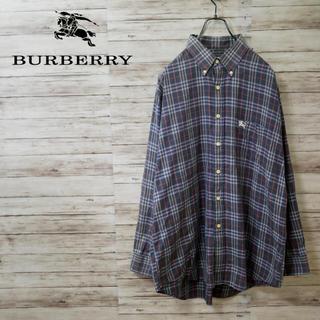 バーバリー(BURBERRY)のBurberry ノバチェック ゆったりめボタンダウンシャツ オールドバーバリー(シャツ)