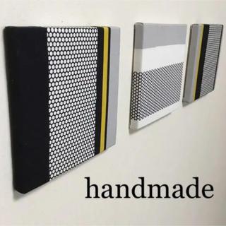 イケア(IKEA)のハンドメイド モノトーン ファブリックパネル  マリメッコ アルテック 好きな方(インテリア雑貨)