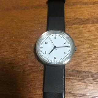 ムジルシリョウヒン(MUJI (無印良品))の無印良品 腕時計 Wall clock シルバー バンド:黒革(腕時計)