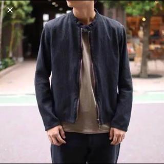 コモリ(COMOLI)のcolina  刺し子ライダース M(ライダースジャケット)