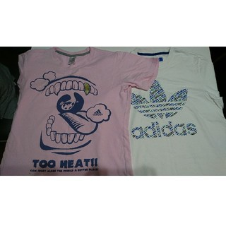 アディダス(adidas)の【お値下げ中】アディダス メンズTシャツ 2枚(Tシャツ/カットソー(半袖/袖なし))