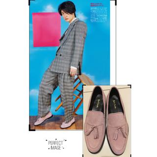 ポールスミス(Paul Smith)の美品 ポールスミス ローファー ピンク UK7 スウェード (ドレス/ビジネス)