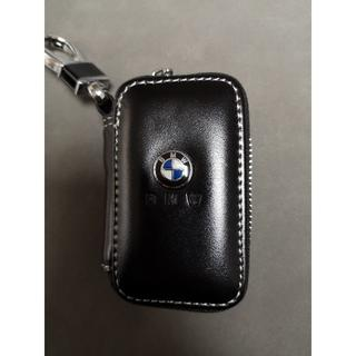 ビーエムダブリュー(BMW)の人気の定番 BMW  美品 レザー キーケース   ブラック(車外アクセサリ)