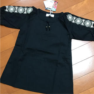 マーキーズ(MARKEY'S)の【新品未使用品】LSP マーキーズ 袖刺繍ワンピース チュニック 90(ワンピース)
