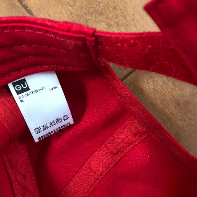 GU(ジーユー)のGU キャップ 赤 レディースの帽子(キャップ)の商品写真