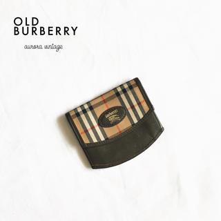 バーバリー(BURBERRY)の良品‼︎イタリア製◆オールドバーバリーズ ノバチェック小銭入れ◆(コインケース)