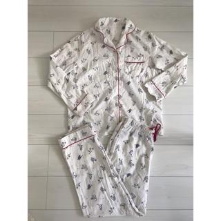ジーユー(GU)の【GU】猫柄 パジャマ ルームウェア キャット ジーユー(パジャマ)