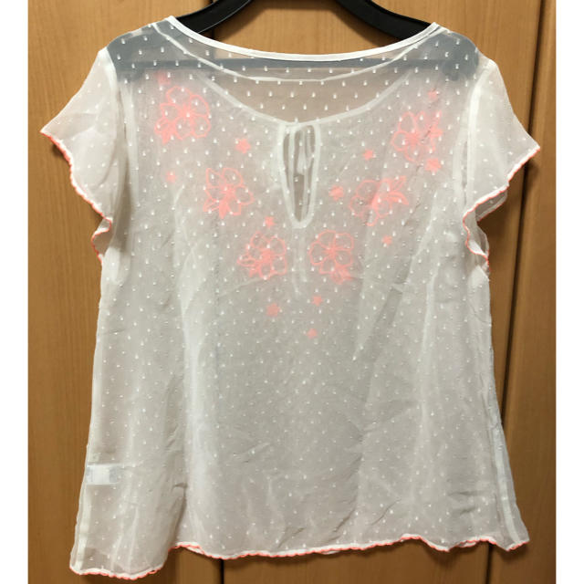 GU(ジーユー)のシースルー トップス レディースのトップス(シャツ/ブラウス(半袖/袖なし))の商品写真