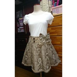 アンジェリックプリティー(Angelic Pretty)のAngelicPretty  スカート (リボンブローチ付き)(ミニスカート)
