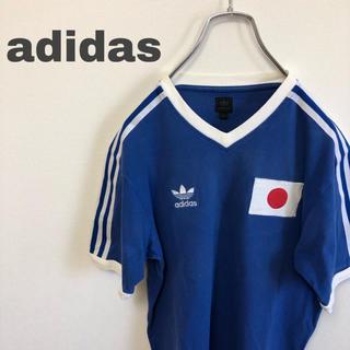 アディダス(adidas)の90s adidas アディダス Tシャツ ブルー 青(Tシャツ/カットソー(半袖/袖なし))