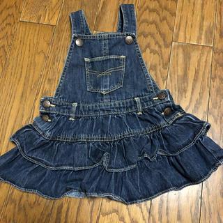 ce40de1373b90 ギャップキッズ(GAP Kids)のGAP jeans ジャンパースカート フリル 80cm デニム ベビー(