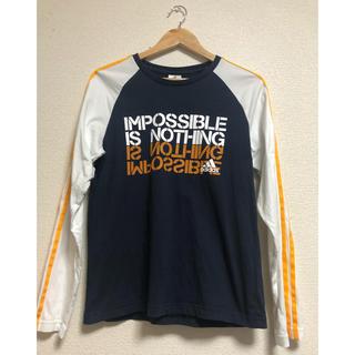アディダス(adidas)のadidas Tシャツ ロンT 紺色(Tシャツ/カットソー(七分/長袖))