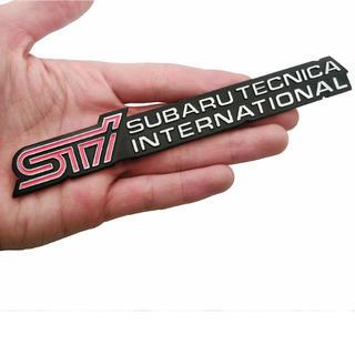 スバル(スバル)の【新品】SUBARU スバル STIロゴ 3Dエンブレムメタルタイプステッカー(車外アクセサリ)