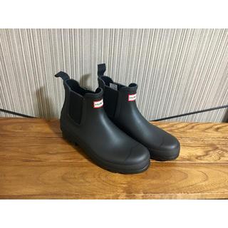ハンター(HUNTER)の美品 HUNTER オリジナル チェルシー ブーツ ブラック 9(長靴/レインシューズ)